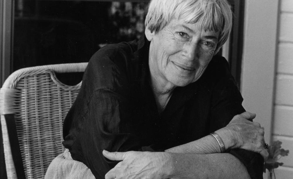 """Ursula Le Guin: """"We live in capitalism. Its power seems inescapable. So did  the divine right of kings."""" Source: Marian Wood Kolisch, Oregon State  University"""